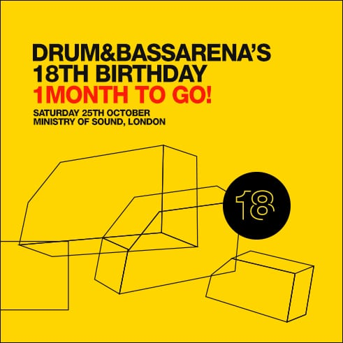 Win tickets to Drum&BassArena 18th Birthday!