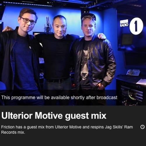 Ulterior Motive – BBC RADIO 1 & 1 Xtra Guest Mix Oct 2014