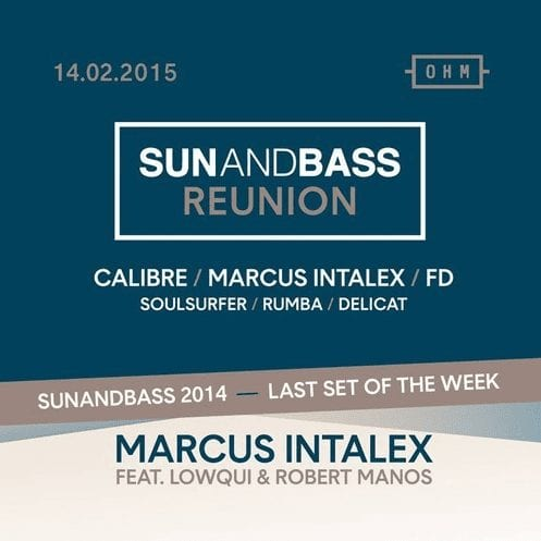 Marcus Intalex w/ Lowqui & Robert Manos – Live @ Sun And Bass 2014