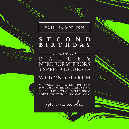 Soul In Motion 2nd Anniversary: Exclusive Need For Mirrors Mix