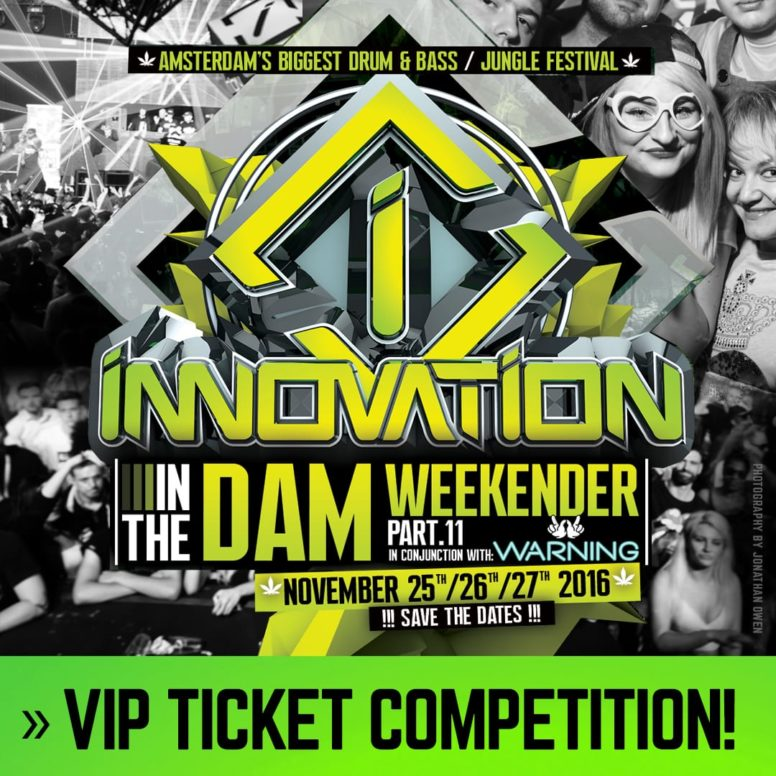 Exclusive Innovation 'In The Dam' VIP Ticket Competition